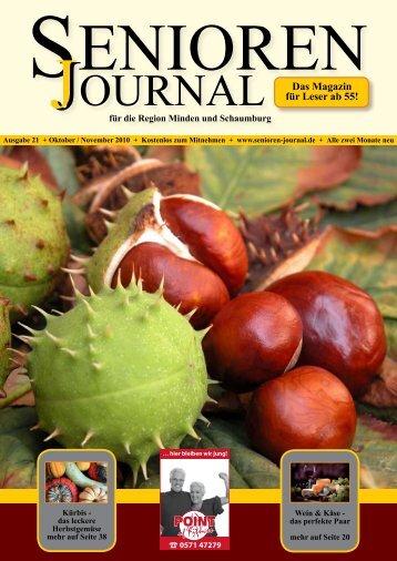 Ausgabe 21 - Okt. / Nov. 2010 - Senioren Journal