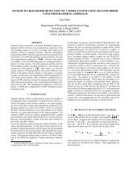 Maximum likelihood detection of MIMO system using second order ...