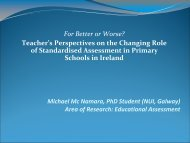Michael Mc Namara, PhD Student (NUI, Galway) Area of Research ...