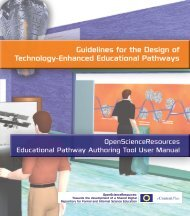 Guidelines and directions for authoring educational pathways for the ...