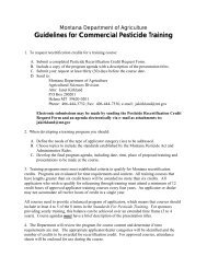 Guidelines for Commercial Pesticide Training - Montana Department ...