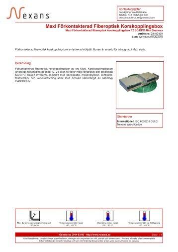 Maxi Förkontakterad Fiberoptisk Korskopplingsbox - Nexans