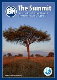 Summit Magazine - December 2008 - International School Moshi
