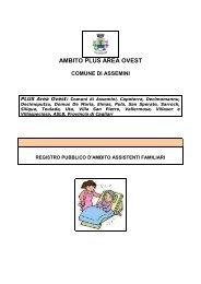 Registro Assistenti familiari Plus Area Ovest - Sociale - Provincia di ...