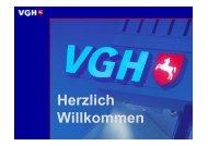 Präsentation der VGH Versicherung - Ehrenamt Emsland