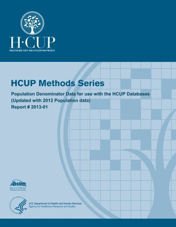Population Denominator Data for use with HCUP Databases