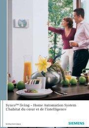 Synco™ living – Home Automation System L'habitat du cœur et de l ...