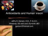 Antioxidants and Human Vision