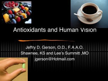 Antioxidants and Human Vision