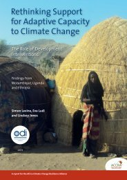 Rethinking Support for Adaptive Capacity to Climate Change - Cebem