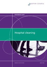Hospital cleaning (PDF | 336 KB)Opens in new ... - Audit Scotland