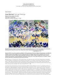 Joan Mitchell The Last Paintings - Hauser & Wirth