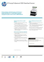 HP Scanjet Professional 3000 Sheet-feed Scanner - Product ...