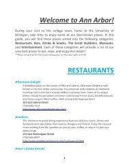 Welcome to Ann Arbor FINAL (PDF) - University of Michigan
