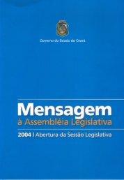 mensagem à assembléia legislativa 2004 - ce