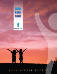 2008 Annual Report - Child Aid