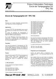 Encre de Tampographie UV TPC 750 - Teca-Print AG