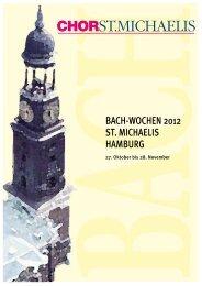 Programmheft Bach Wochen Saison 2012 - Antje Sievert Anzeigen ...