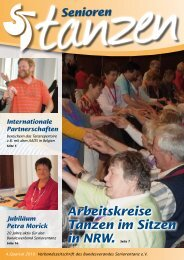 Arbeitskreise Tanzen im Sitzen in NRW. Seite 7 - Bundesverband ...