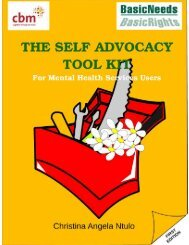 The Self Advocacy Toolkit - For Mental Health Service Users - CBM
