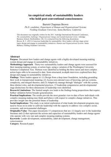 prospectus for dissertation