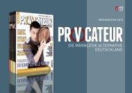Mediadaten Deutsch (PDF) - Provocateur Magazin