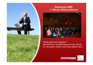 Reporting 2008 1. Wiener Wissensforum - Speakers Excellence