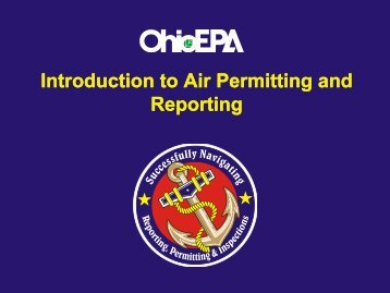 Introduction to Air Permitting and Introduction to Air ... - Ohio EPA