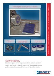 Leták - elektromagnety - Stroje - BOST SK, as