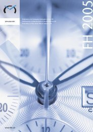 Jahresbericht 2005 - Federation of the Swiss Watch Industry FH