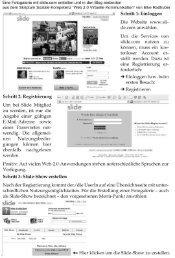 Eine Fotogalerie mit slide.com erstellen und in den Blog ... - WIGBIT