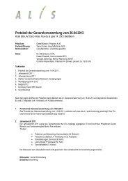 Protokoll GV 2012 - ALIS