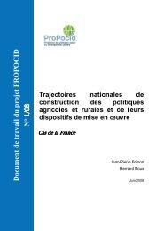 Les politiques agricoles en France et la - Inra