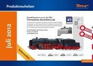 Roco Neuheiten-Info Juli 2012 - Modellbahnshop Sebnitz