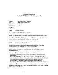 Protokoll Runder Tisch 06.03.01 - Agenda-wuerselen.de