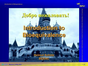 Introduction to Bioequivalence - BEBAC • Consultancy Services for ...
