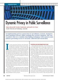 Dynamic Privacy in Public Surveillance - CiteSeerX