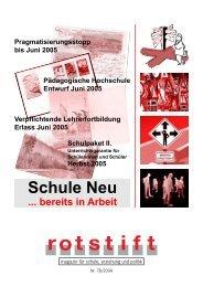 Schule Neu - rotstift - SPÖ