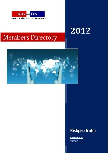 Members Directory - Riskpro