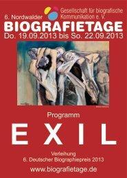 Programmheft Nordwalde Biografietage 2013 - Schreibkurse für Ihre ...