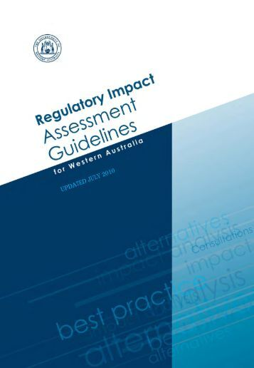 RIA Guidelines - Department of Finance