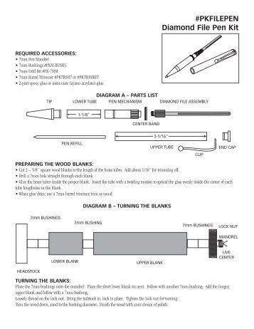 woodcraft pen kit instructions