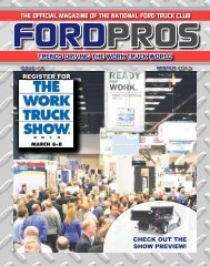 The Official Magazine of the National FOrd Truck Club TRENDS ...