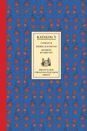 KATALOG 5 - Antiquariat Reh