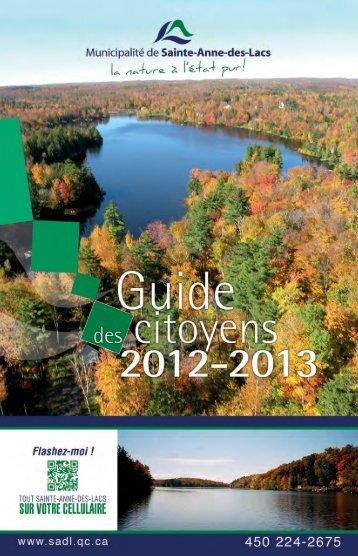 Guide des citoyens - Municipalité de Sainte-Anne-des-lacs