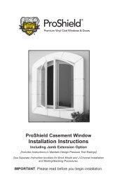 ProShield Casement Window Installation Instructions - Home Doors ...