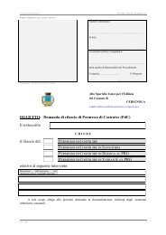 OGGETTO: Domanda di rilascio di Permesso di ... - Città di Cerignola
