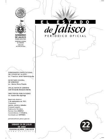 Sección II - Periódico Oficial El Estado de Jalisco