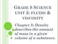 Grade 8 Science unit 3: fluids & viscosity