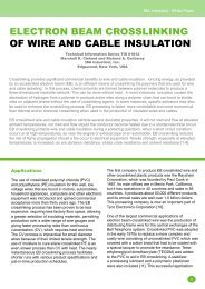ElEctron BEam crosslinking of WirE and caBlE ... - IBA Industrial